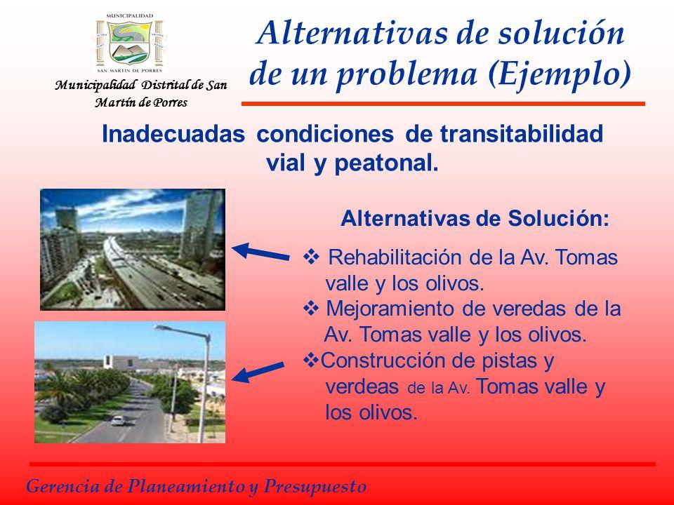 Alternativas de solución de un problema (Ejemplo)