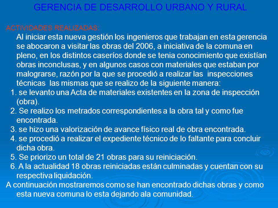 GERENCIA DE DESARROLLO URBANO Y RURAL