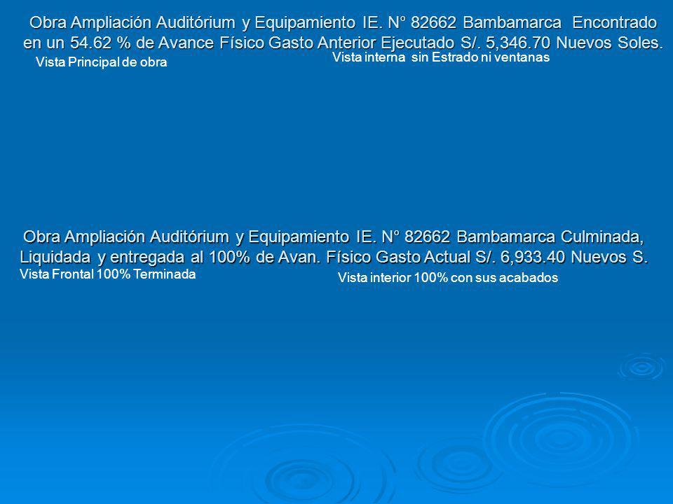 Obra Ampliación Auditórium y Equipamiento IE