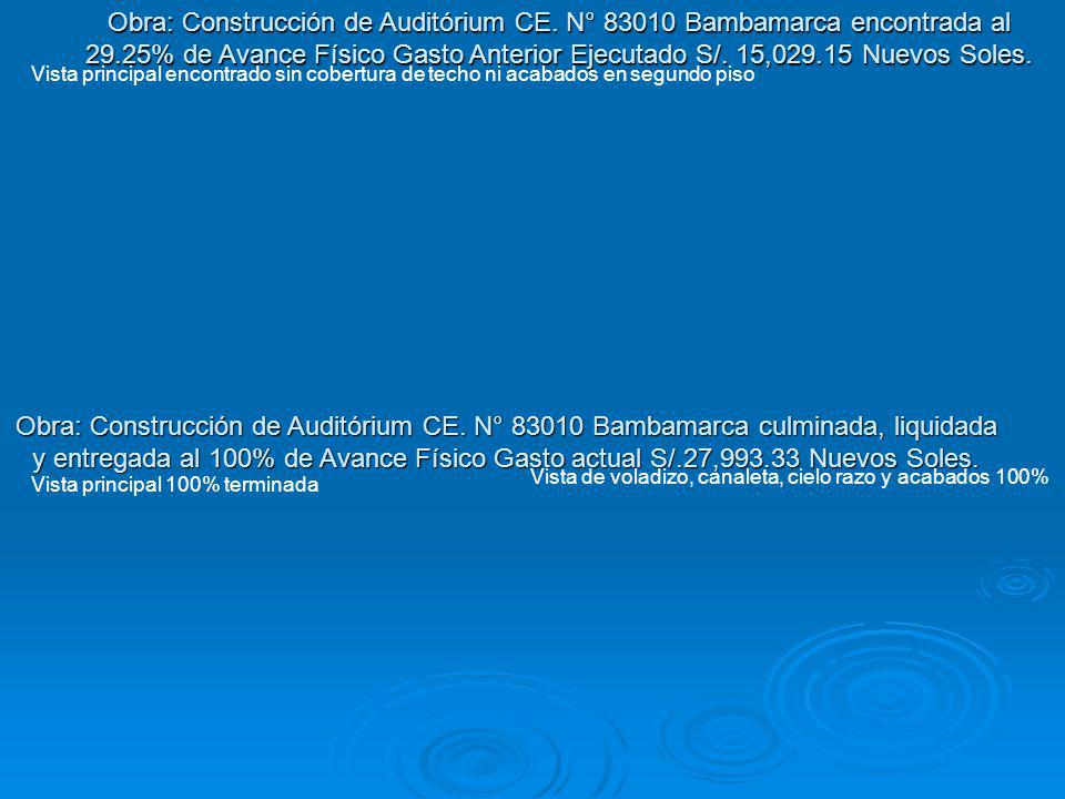 Obra: Construcción de Auditórium CE