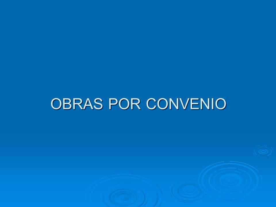 OBRAS POR CONVENIO