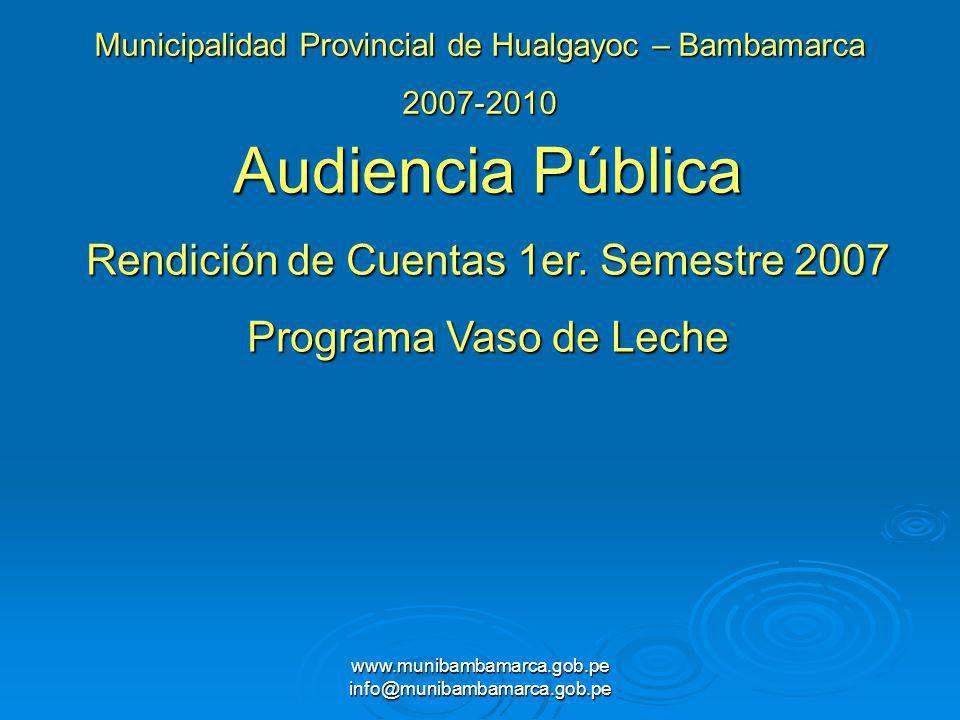 Audiencia Pública Rendición de Cuentas 1er. Semestre 2007