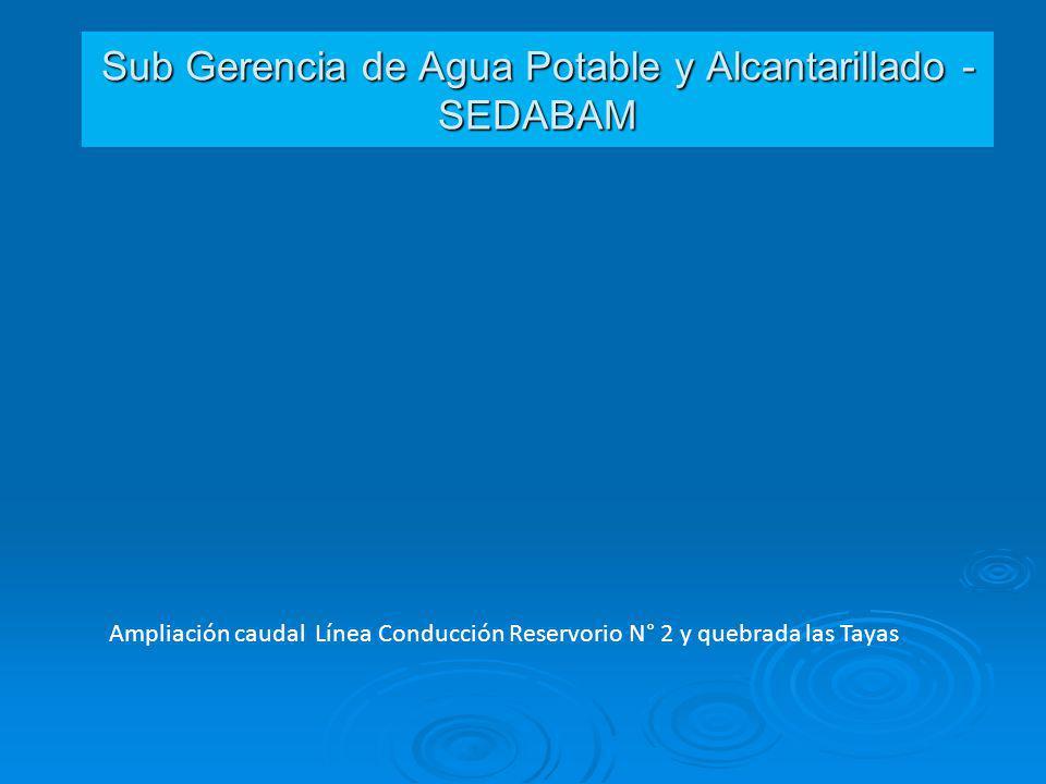 Sub Gerencia de Agua Potable y Alcantarillado - SEDABAM