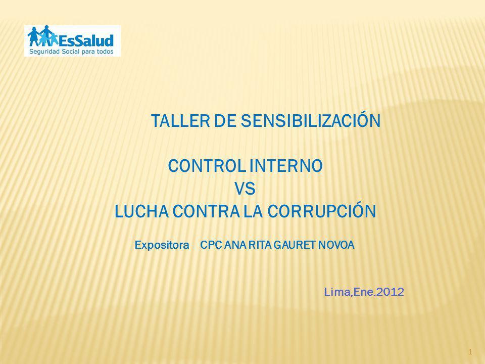 TALLER DE SENSIBILIZACIÓN LUCHA CONTRA LA CORRUPCIÓN