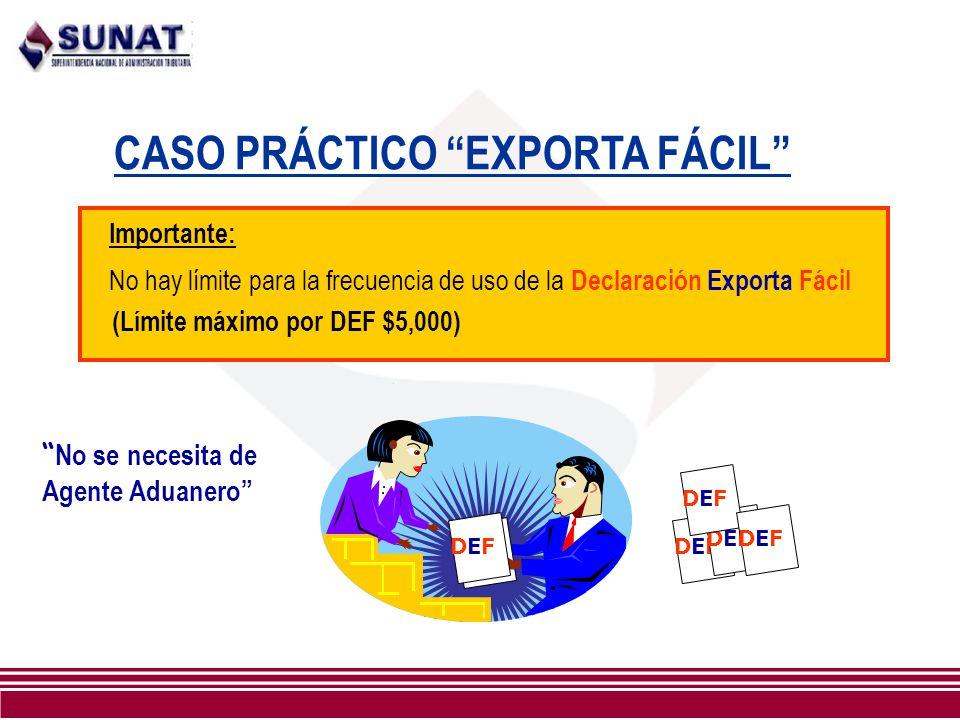 CASO PRÁCTICO EXPORTA FÁCIL