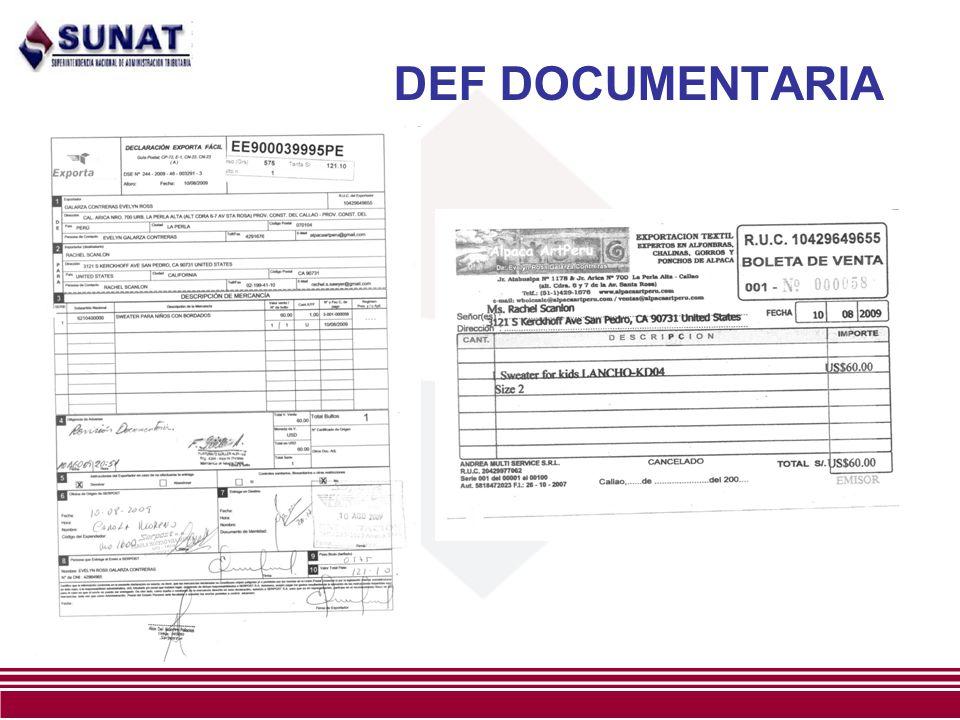 DEF DOCUMENTARIA