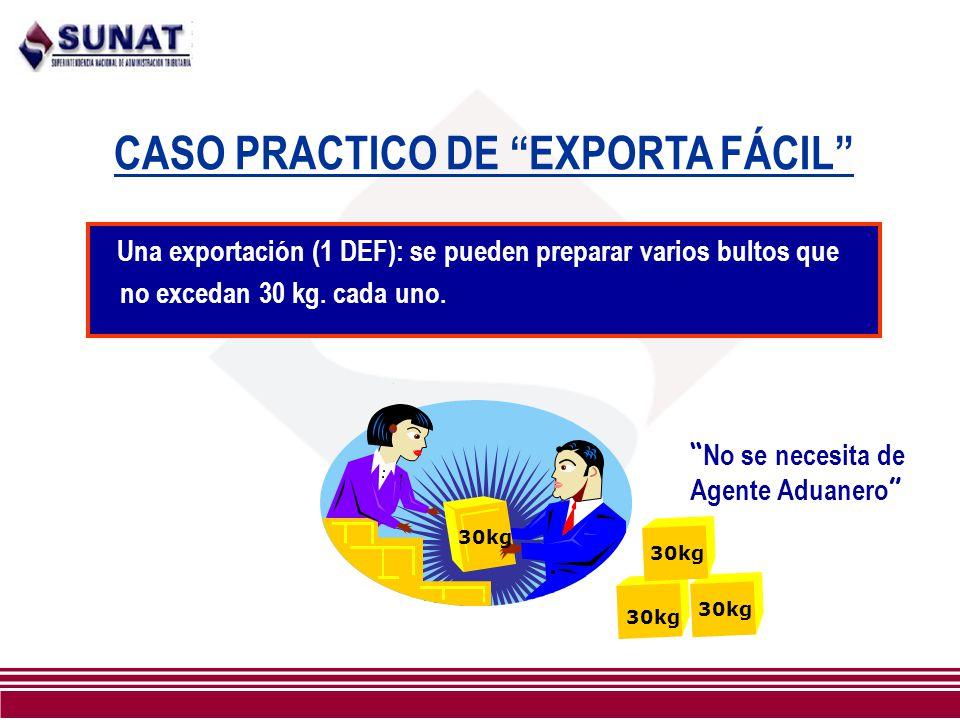 CASO PRACTICO DE EXPORTA FÁCIL