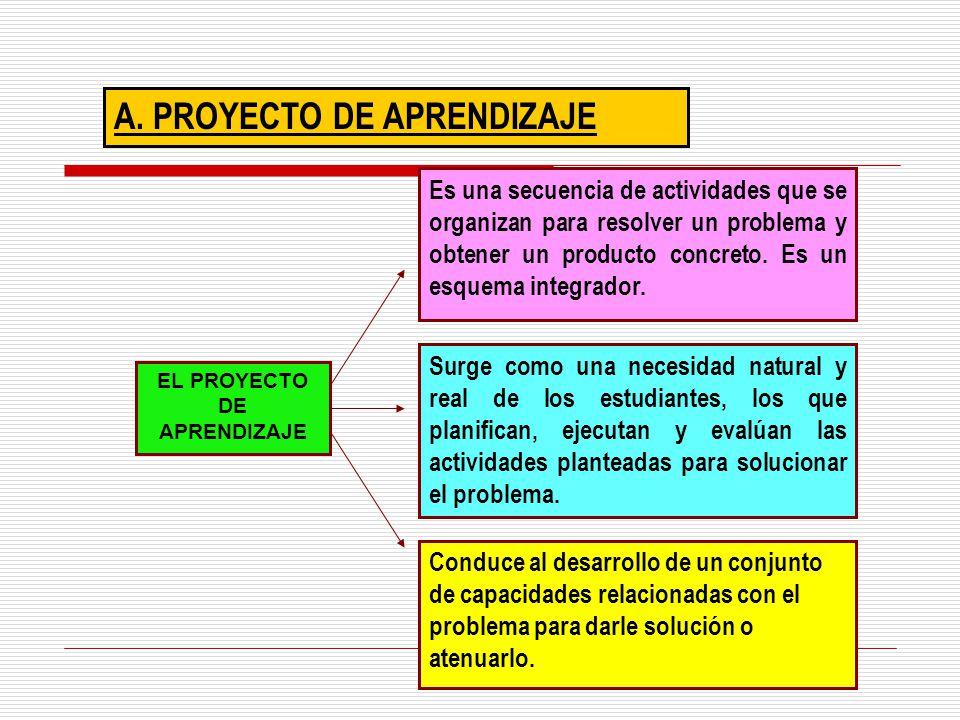 EL PROYECTO DE APRENDIZAJE