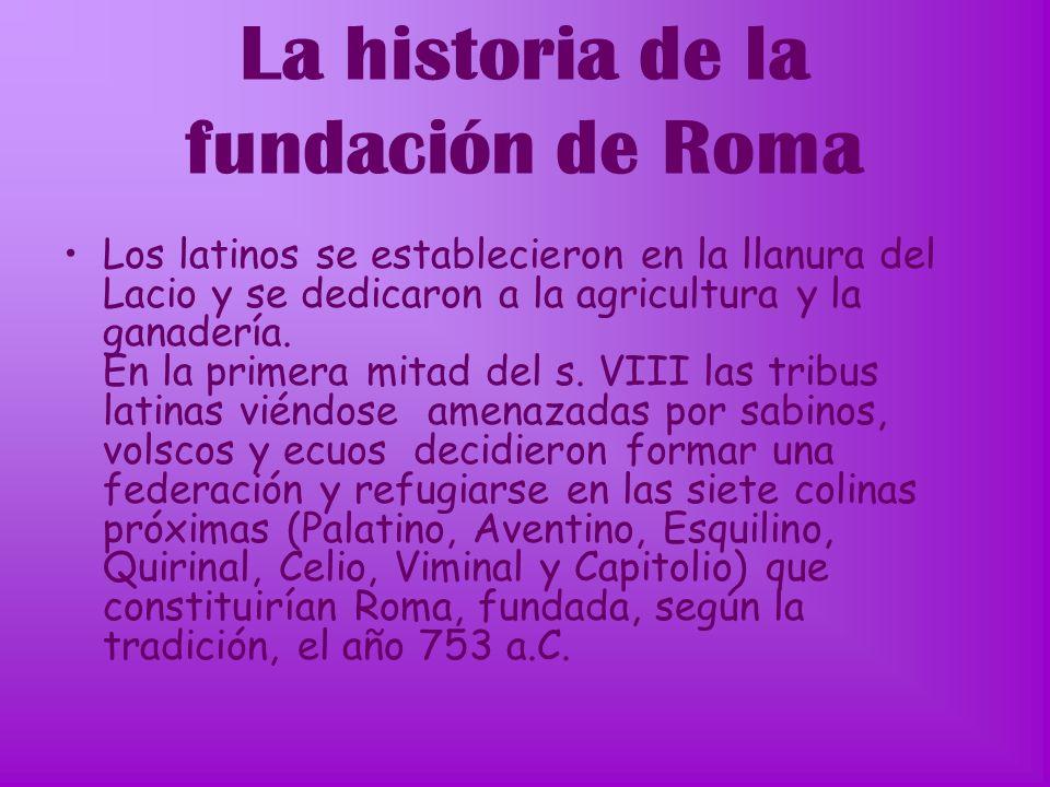 La historia de la fundación de Roma