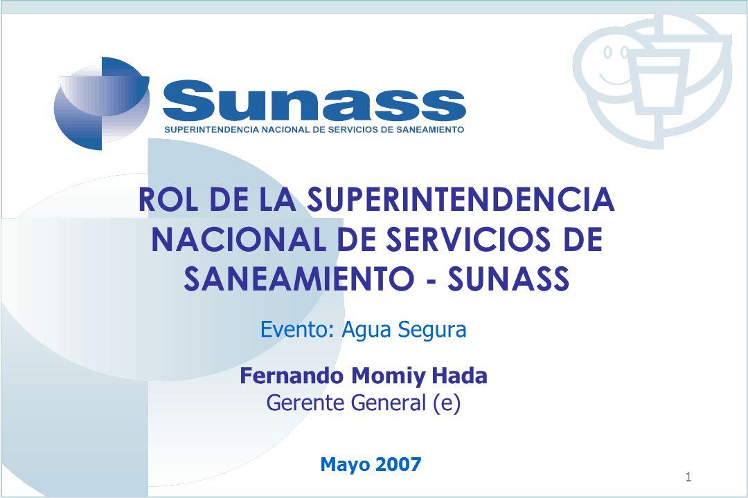 Evento: Agua Segura Fernando Momiy Hada Gerente General (e)