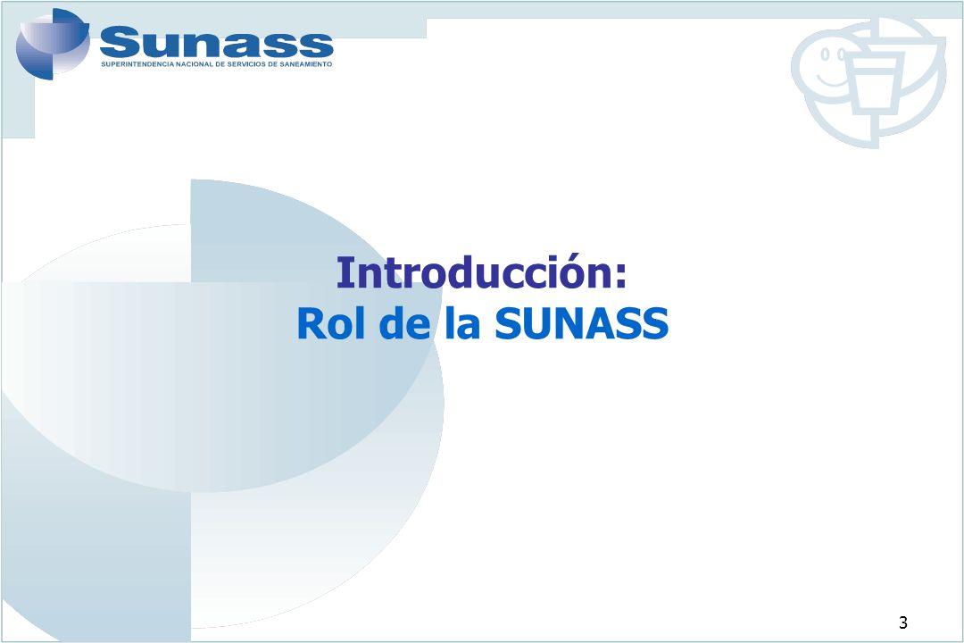Introducción: Rol de la SUNASS
