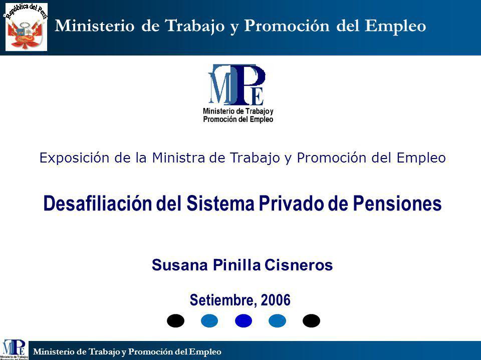 Desafiliación del Sistema Privado de Pensiones