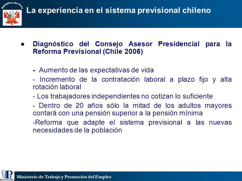 La experiencia en el sistema previsional chileno
