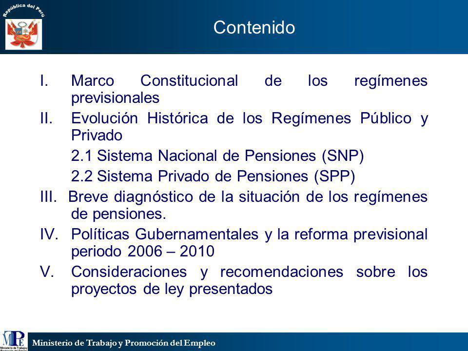 Contenido Marco Constitucional de los regímenes previsionales
