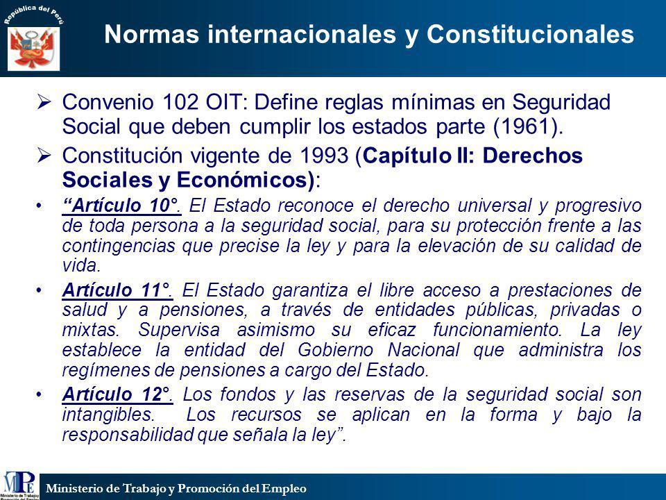 Normas internacionales y Constitucionales
