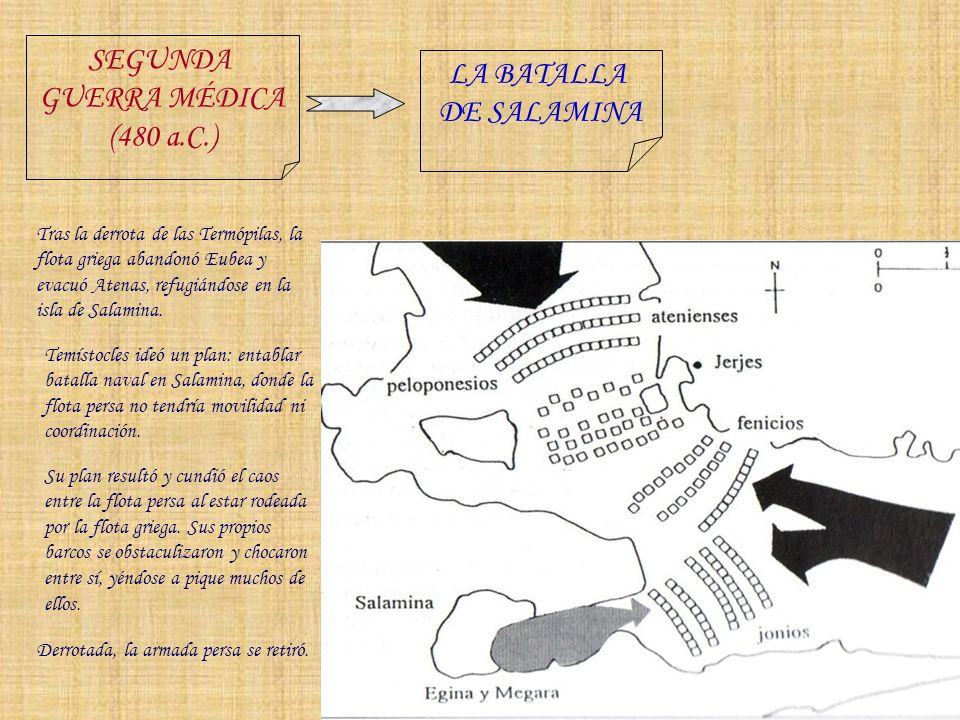 SEGUNDA LA BATALLA GUERRA MÉDICA DE SALAMINA (480 a.C.)