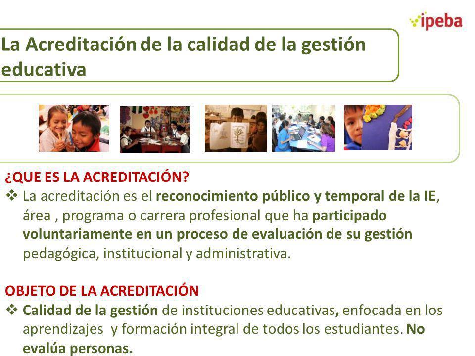 La Acreditación de la calidad de la gestión educativa