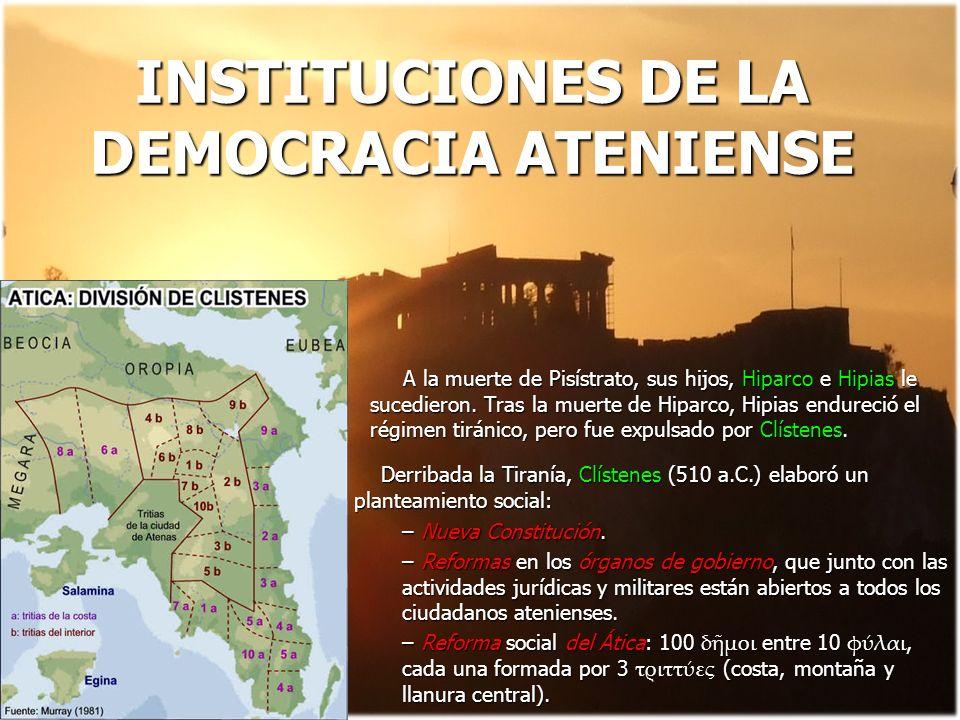 INSTITUCIONES DE LA DEMOCRACIA ATENIENSE
