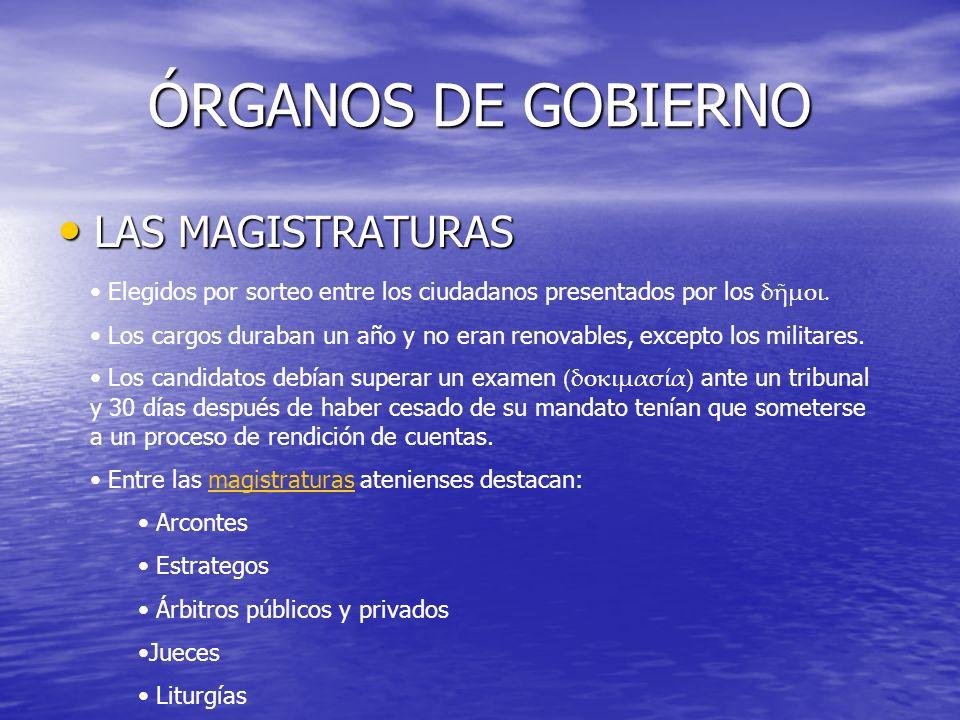 ÓRGANOS DE GOBIERNO LAS MAGISTRATURAS