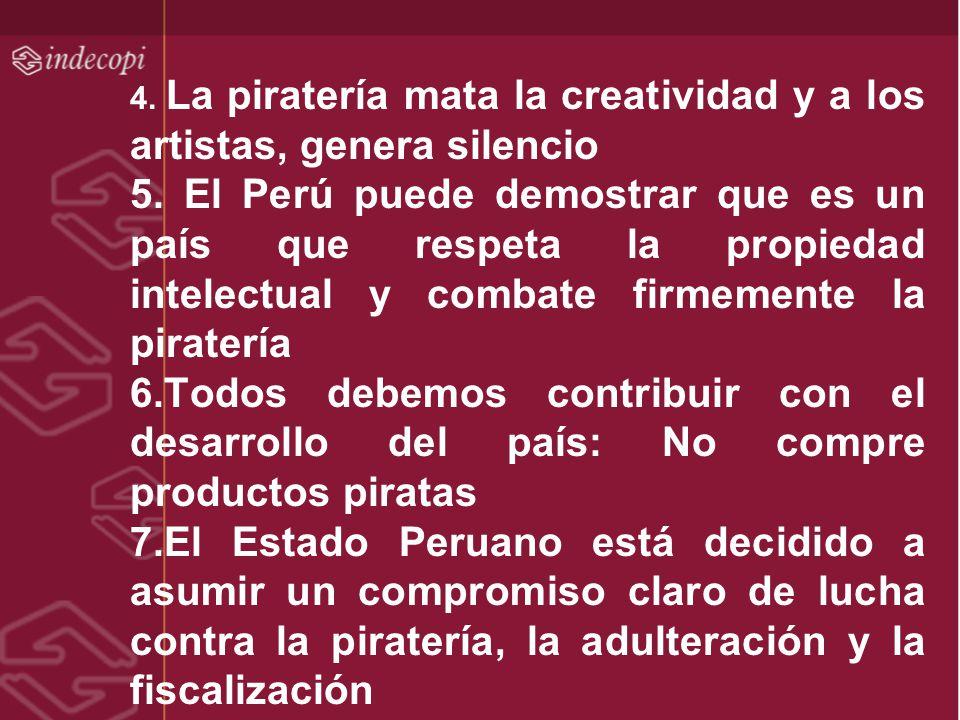 4. La piratería mata la creatividad y a los artistas, genera silencio