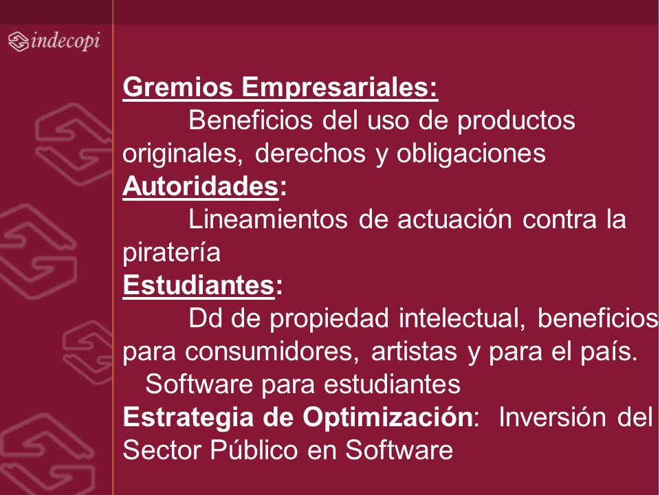 Gremios Empresariales: