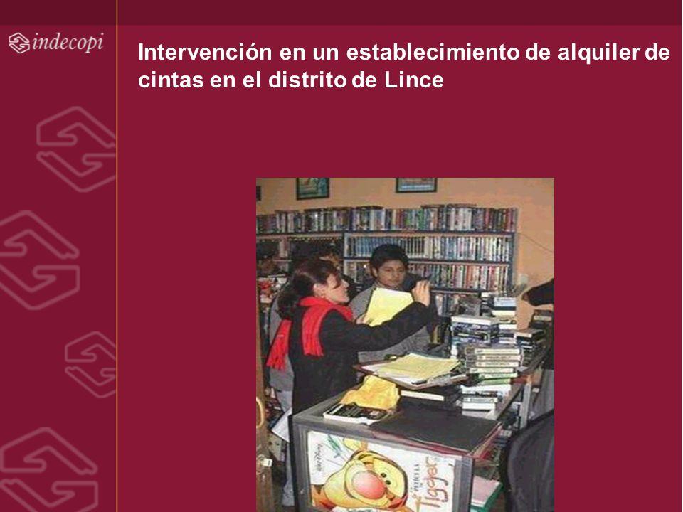 Intervención en un establecimiento de alquiler de cintas en el distrito de Lince