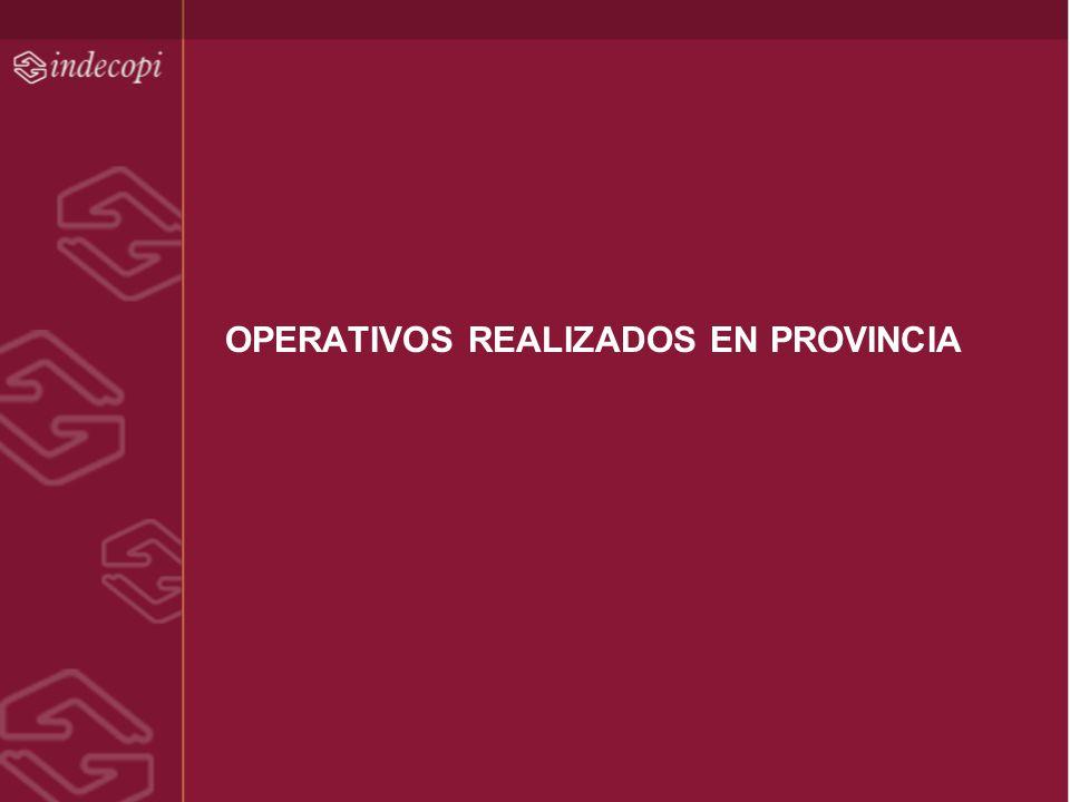 OPERATIVOS REALIZADOS EN PROVINCIA