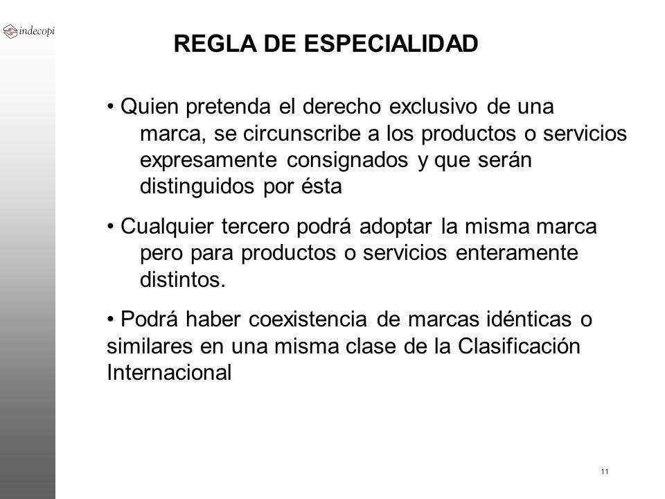 REGLA DE ESPECIALIDAD
