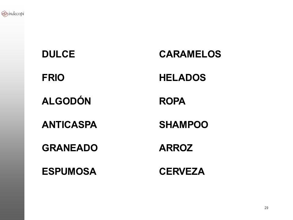DULCE CARAMELOS FRIO HELADOS. ALGODÓN ROPA.