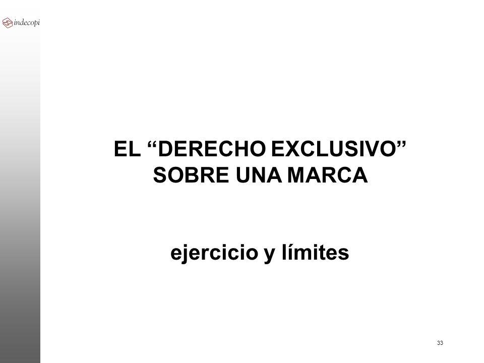 EL DERECHO EXCLUSIVO SOBRE UNA MARCA