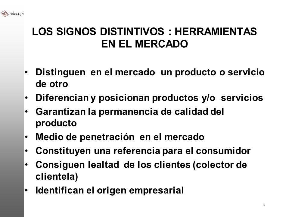 LOS SIGNOS DISTINTIVOS : HERRAMIENTAS EN EL MERCADO