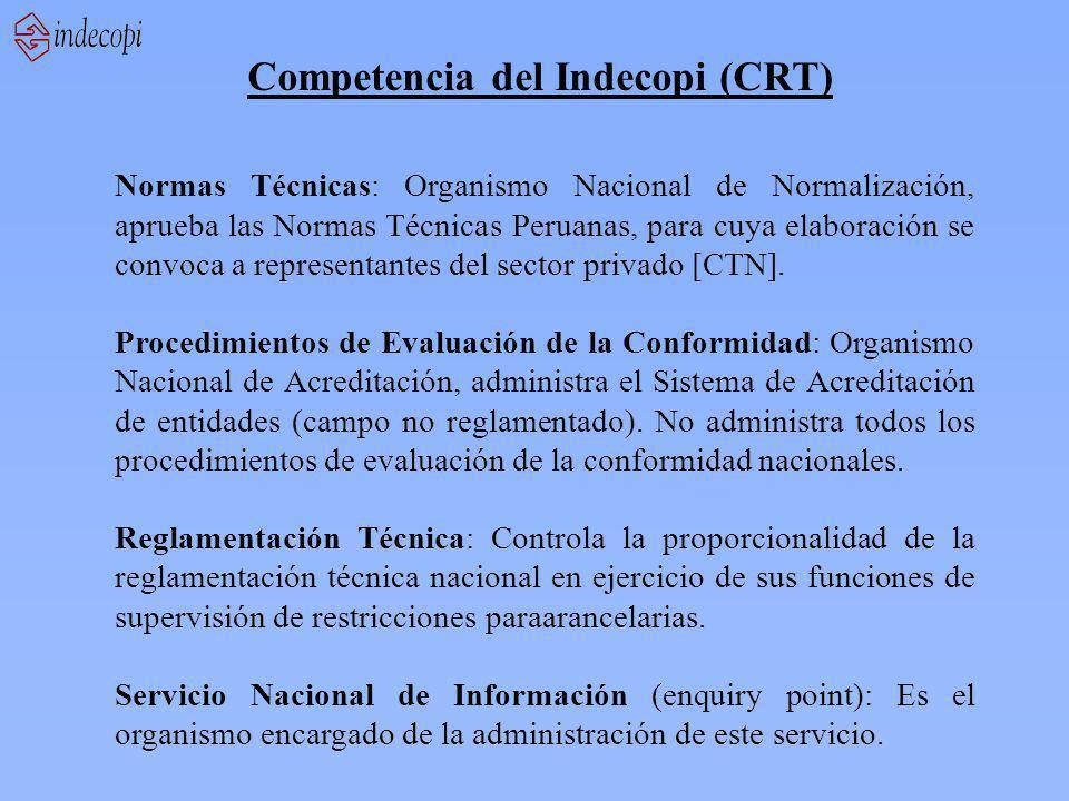 Competencia del Indecopi (CRT)