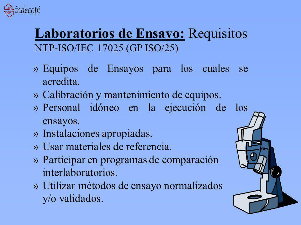 Laboratorios de Ensayo: Requisitos