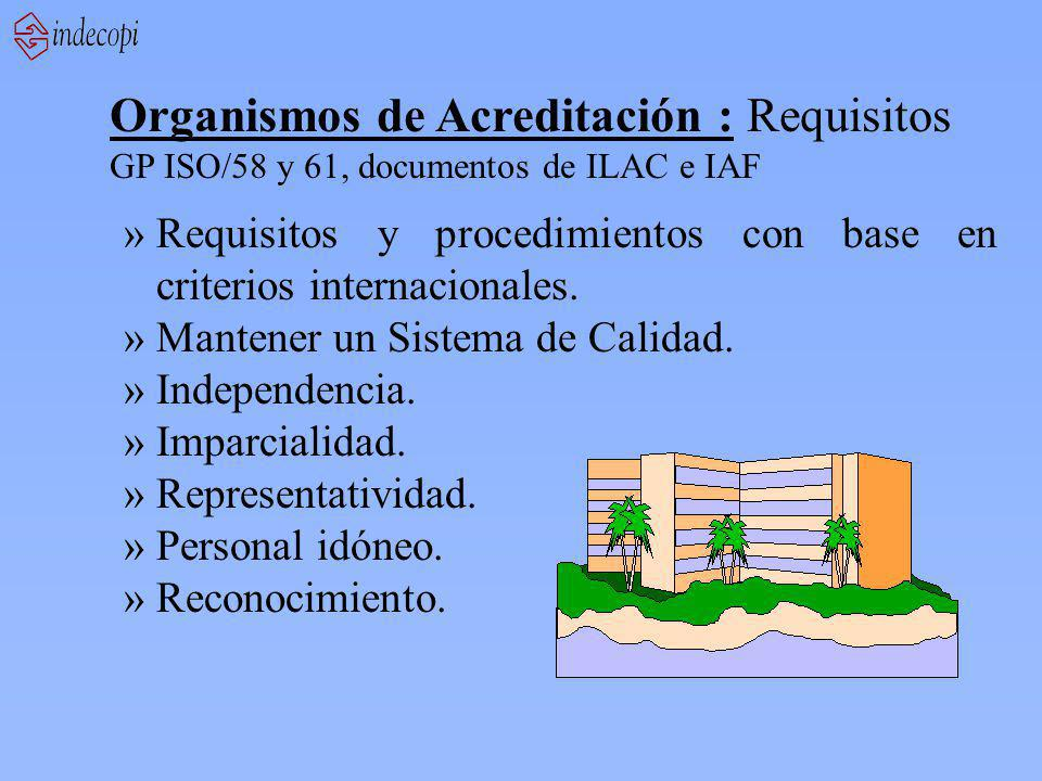Organismos de Acreditación : Requisitos
