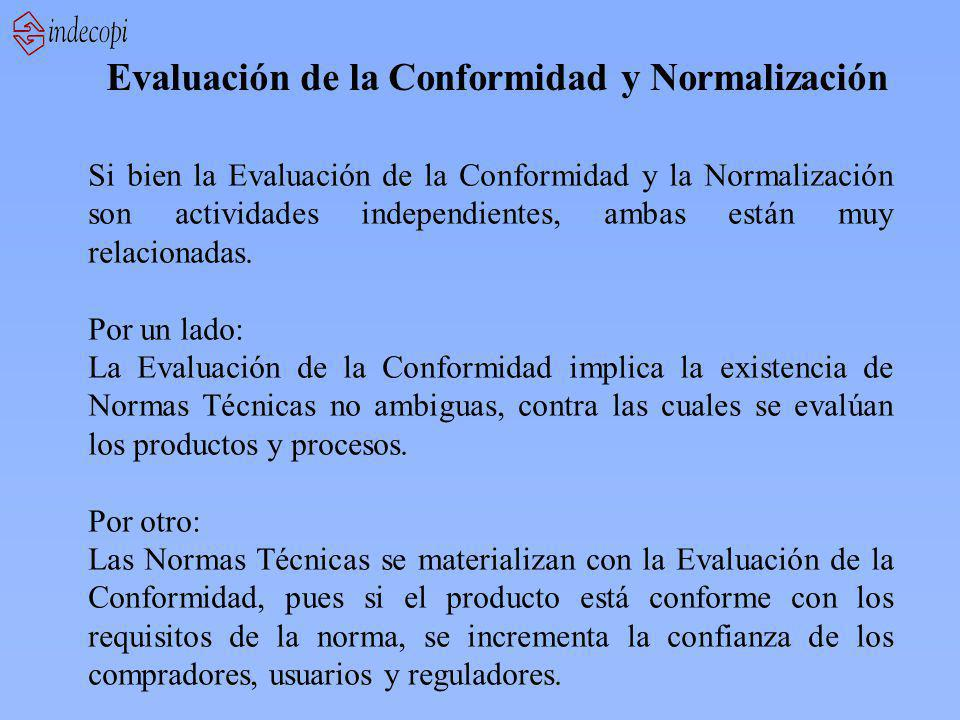 Evaluación de la Conformidad y Normalización