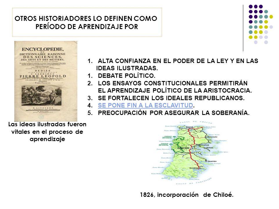 OTROS HISTORIADORES LO DEFINEN COMO PERÍODO DE APRENDIZAJE POR