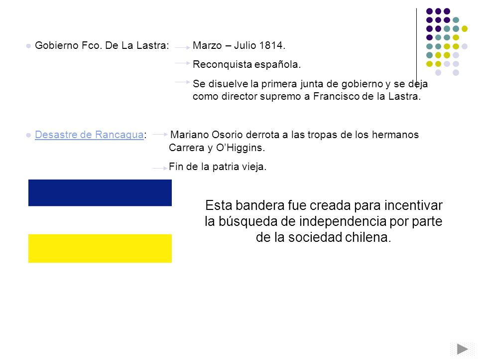 Gobierno Fco. De La Lastra: Marzo – Julio 1814.