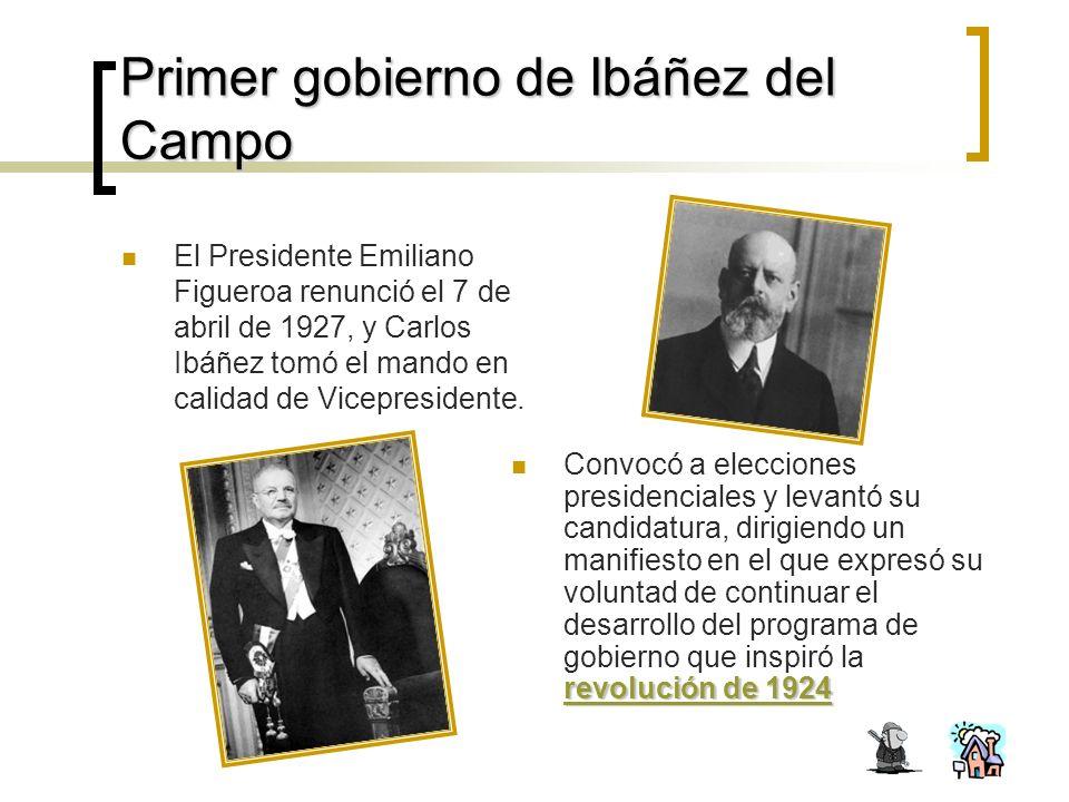Primer gobierno de Ibáñez del Campo