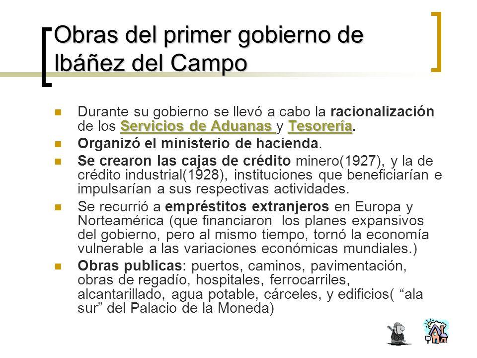 Obras del primer gobierno de Ibáñez del Campo