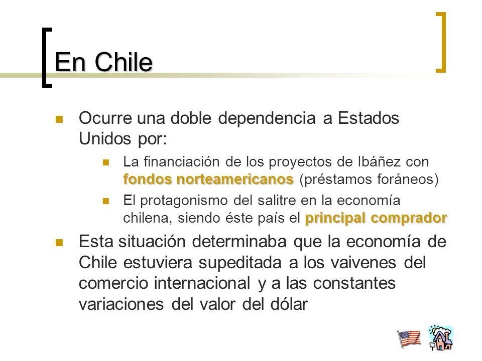 En Chile Ocurre una doble dependencia a Estados Unidos por: