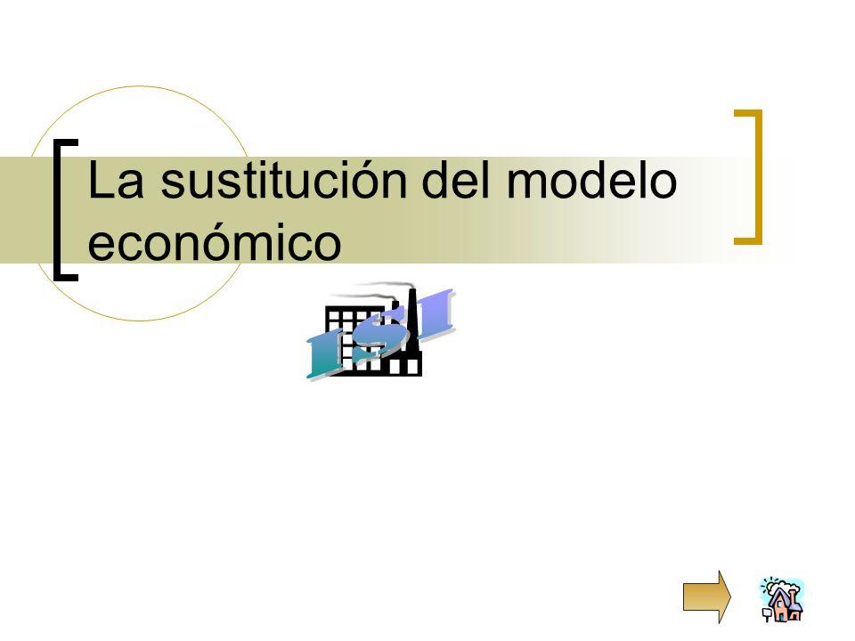 La sustitución del modelo económico