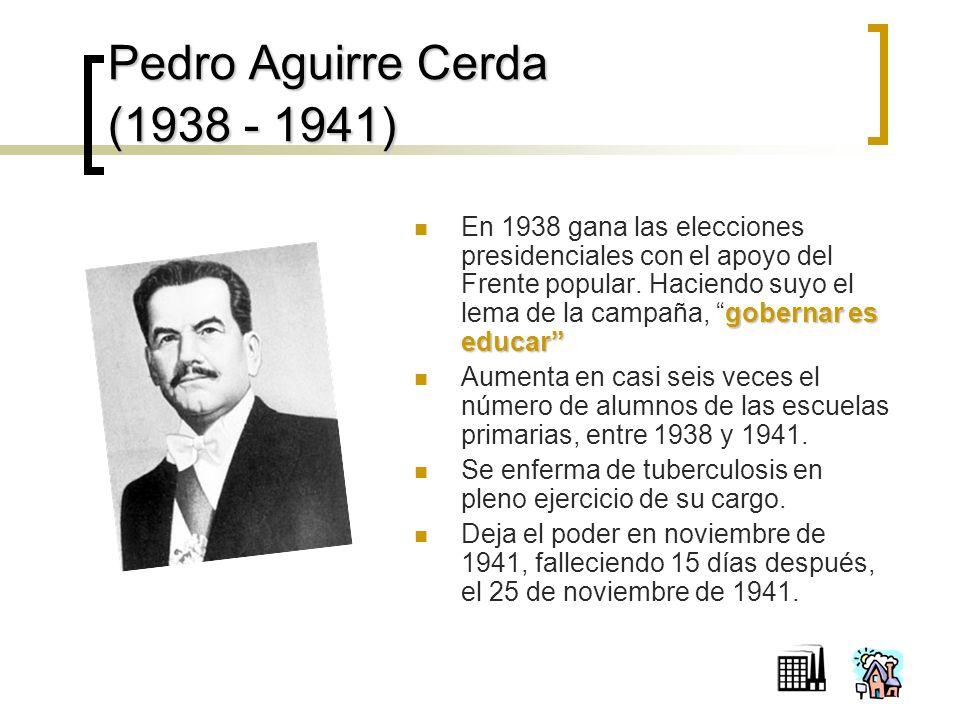 Pedro Aguirre Cerda (1938 - 1941)