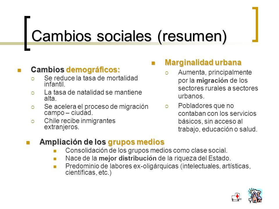 Cambios sociales (resumen)