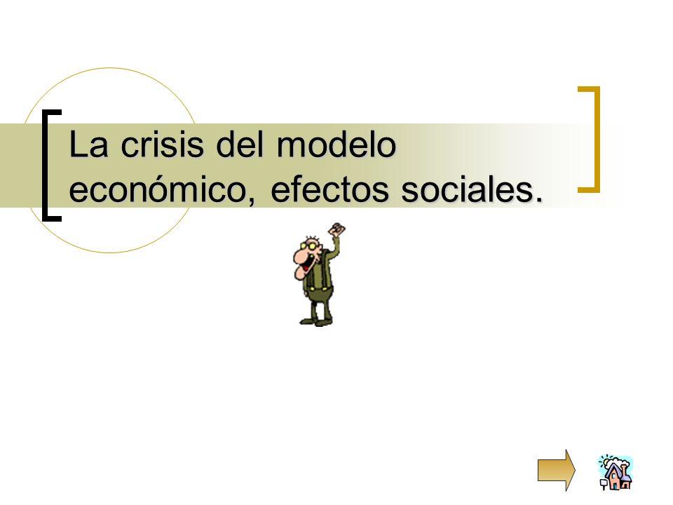 La crisis del modelo económico, efectos sociales.