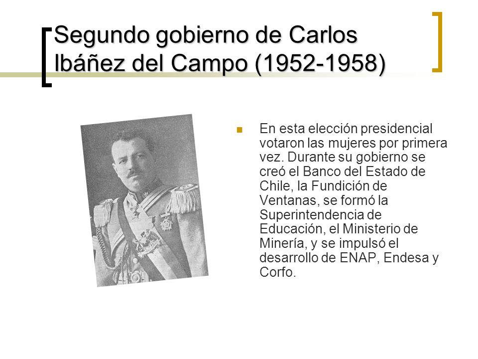 Segundo gobierno de Carlos Ibáñez del Campo (1952-1958)