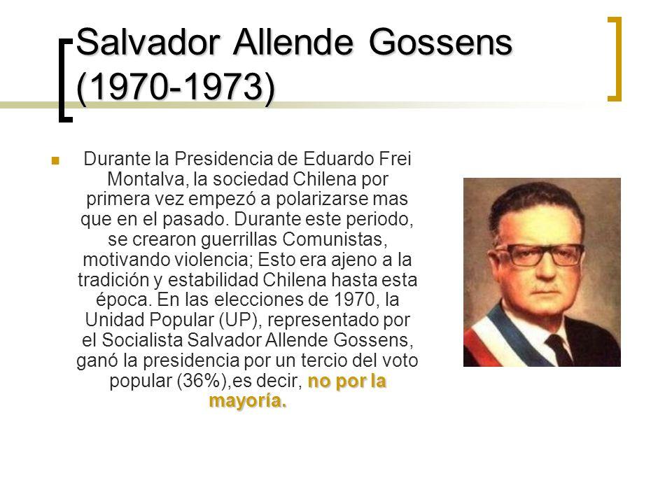 Salvador Allende Gossens (1970-1973)