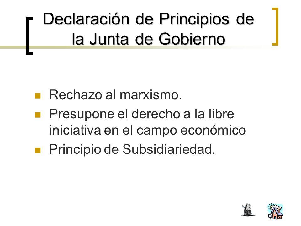 Declaración de Principios de la Junta de Gobierno