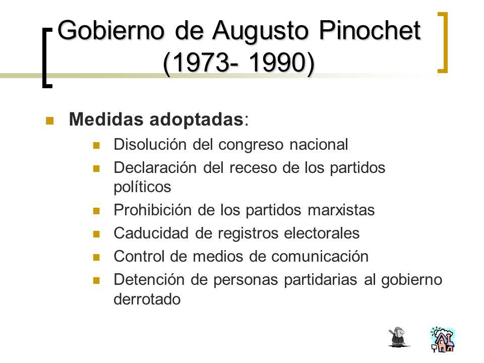 Gobierno de Augusto Pinochet (1973- 1990)