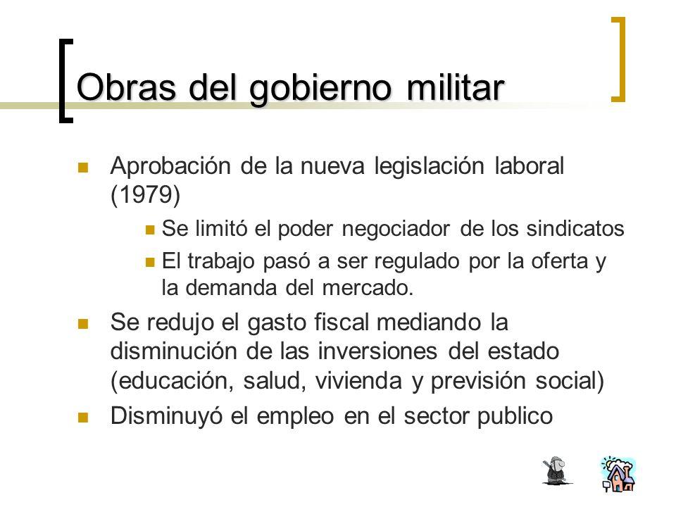 Obras del gobierno militar