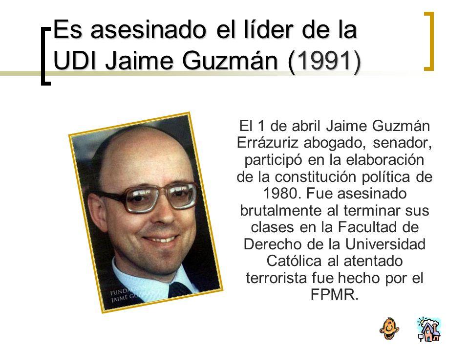 Es asesinado el líder de la UDI Jaime Guzmán (1991)